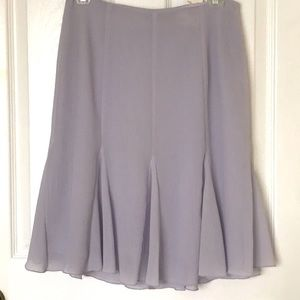 Flair Lilac dusty Lavender sz 4 Lined Skirt Spring
